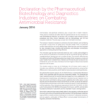 Declaration by the Pharmaceutical, Biotechnology and Diagnostics Industries on Combating Antimicrobial Resistance