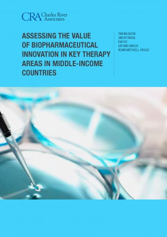 Assessing the value of biopharmaceutical innovation in key therapy areas in middle-income countries