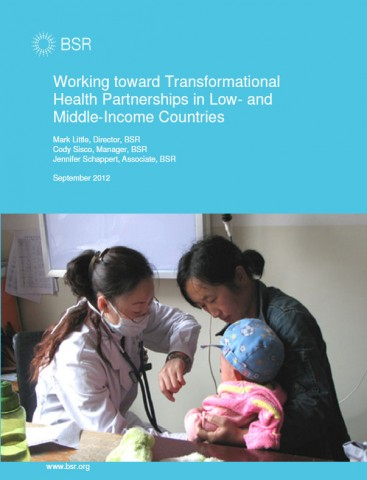 BSR report: Working toward transformational health partnerships in low- and middle-income countries