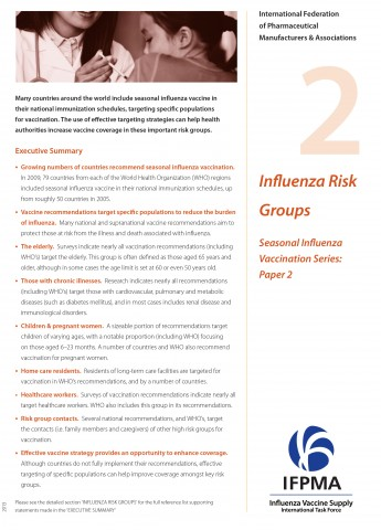Fact sheet 2: Influenza risk groups