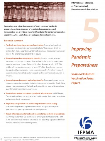 Fact sheet 5: Improving pandemic preparedness
