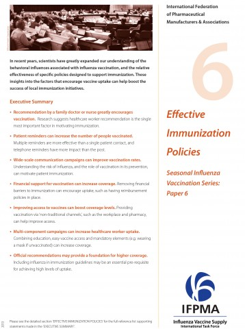 Fact sheet 6: Effective immunization policies