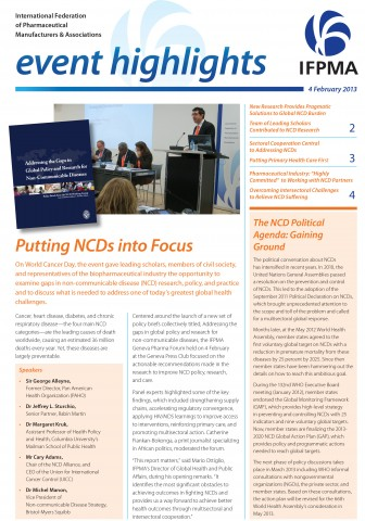 IFPMA_Event_Highlights_Putting_NCDs_into_Focus_4Feb2013