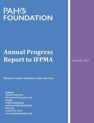 PAHO Foundation annual progress report to IFPMA