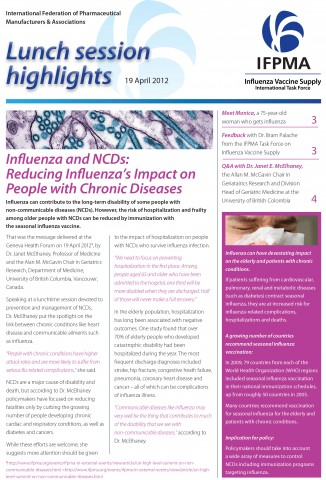 IFPMA event highlights: influenza and NCDs: reducing influenza's impact on people with chronic diseases