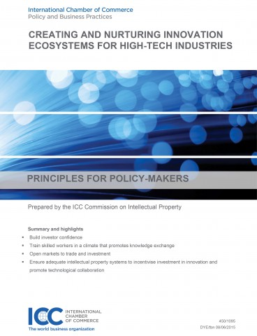 ICC principles on creating and nurturing innovation ecosystems for high-tech industries