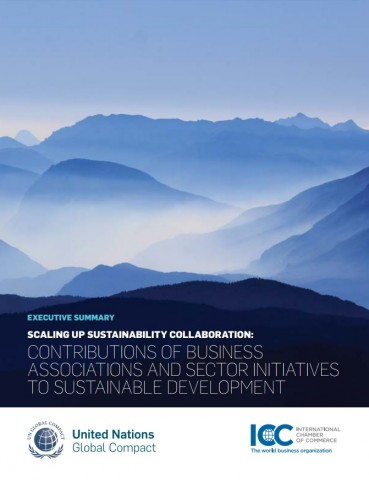 "UN global compact – International Chamber of Commerce: ""Scaling up sustainability collaboration"""