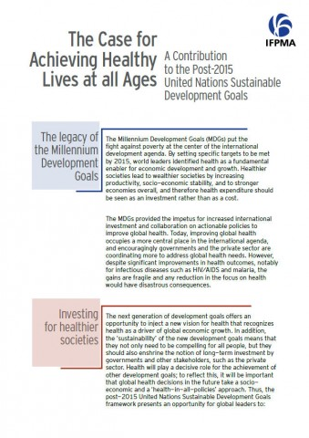 The case for achieving healthy lives at all ages: A contribution to the post-2015 UN sustainable development goals