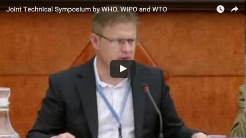 Joint technical symposium by WHO, WIPO and WTO