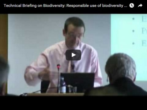 Technical Briefing on Biodiversity: Responsible use of biodiversity - Industry perspective, part 1