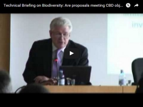 Technical Briefing on Biodiversity: Are proposals meeting CBD objectives – Conclusions, part 1