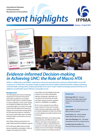 Evidence-informed decision-making in achieving UHC: the role of macro HTA