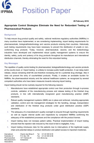 pharmacy position paper Epsa statements and position papers eafp has helped to expand the thinking about the pharmacy university curricula over the past ten years through a task force.
