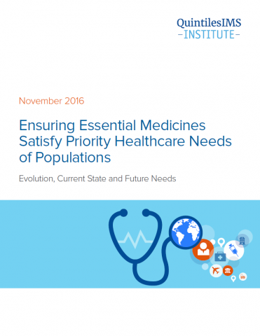 Ensuring Essential Medicines Satisfy Priority Healthcare Needs of Populations