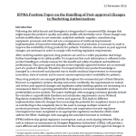 Handling of Post-approval Changes to Marketing Authorizations: Position Paper