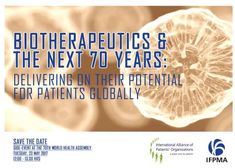 @WHA70: Panelists take on 'Biotherapeutics & the next 70 years'
