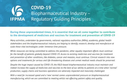 COVID-19 Biopharmaceutical Industry – Regulatory Guiding Principles