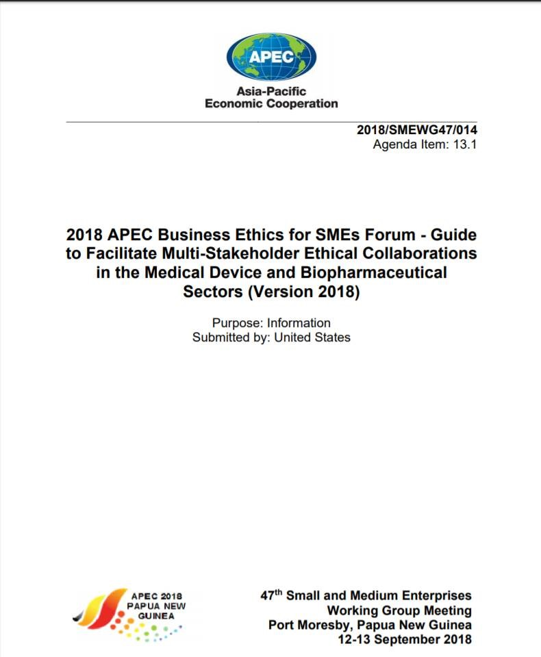 APEC Guide to Implement Multi-Stakeholder Ethical Collaborations