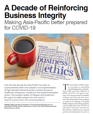 A Decade of Reinforcing Business Integrity Making Asia-Pacific better prepared for COVID-19