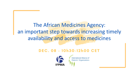 IFPMA-IAPO Webinar: The African Medicines Agency – an important step towards increasing timely availability and access to medicinal products for patients in Africa