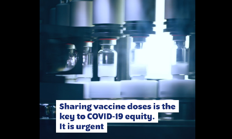 Dose sharing is a critical urgent step towards vaccine equity (Step #1) Video