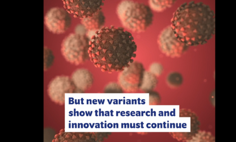 The evolution of the SARS-COV-2 virus is a stark reminder that research and innovation must continue (Step #5)
