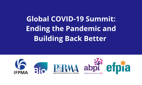 IFPMA EFPIA PhRMA BIO ABPI Statement - Global COVID-19 Summit: Ending the Pandemic and Building Back Better